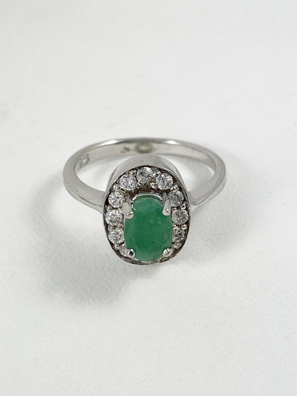 Кольцо серебряное с бериллом