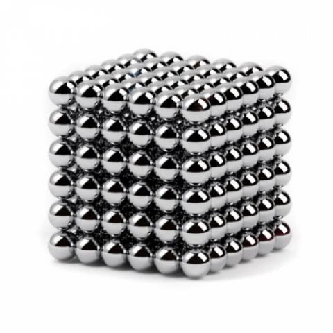 Нєо Куб 5мм срібний, Магнітні кульки, Магнітний неокуб, Головоломка