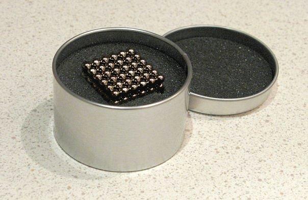 Нео Куб 5мм серебряный, Магнитные шарики, Магнитный неокуб, Головоломка