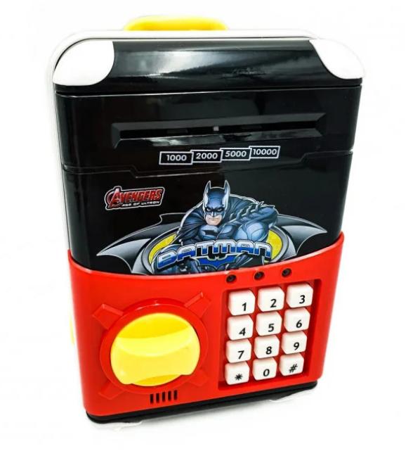 Дитячий електронний сейф-скарбничка Marvel Супер герої. Дитячий сейф з кодовим замком. Сейф скарбничка