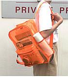 Женский большой прозрачный рюкзак черный, фото 5