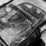 Женский большой прозрачный рюкзак черный, фото 2