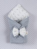 """Одеяло-конверт""""Маленькие стиляжки"""" (серый, велюр/интерлок, д/с, (90*90))"""