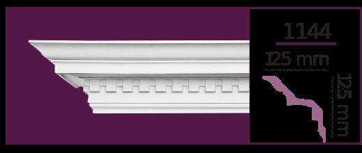 Карниз потолочный с орнаментом 1144 (2.44м) Home Decor, лепной декор из полиуретана