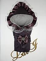 "Одеяло-конверт""Милена"" (д/с) (баклажановый, евро сатин/бязь, (85*85)"