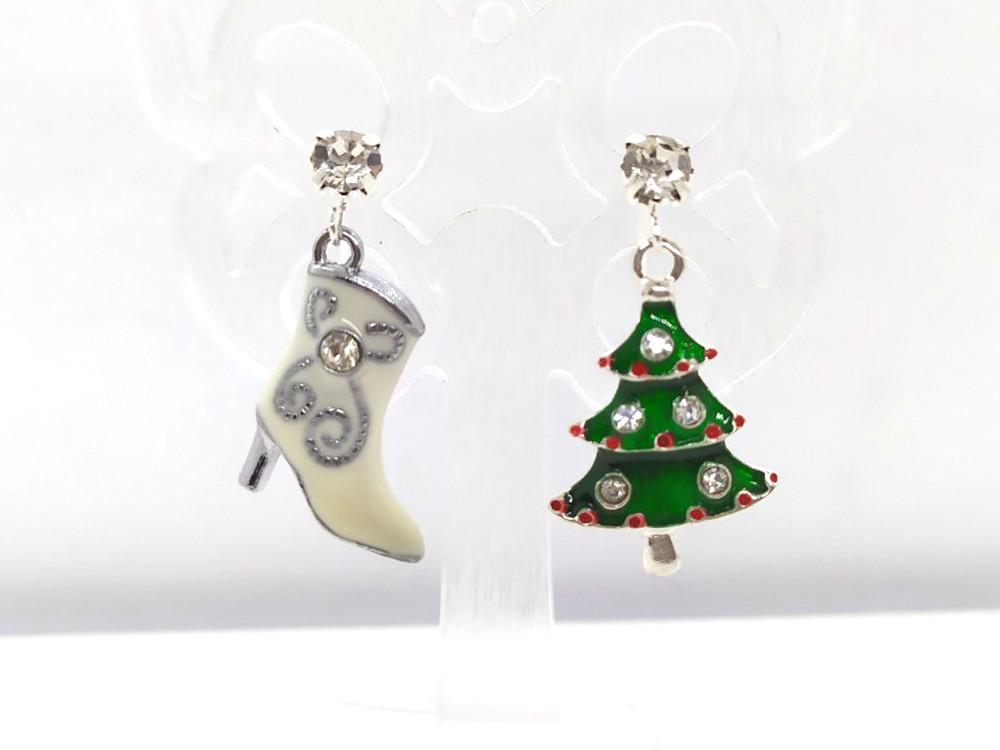 Білий Чобіток і Ялинка - Новорічні сережки #28