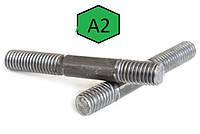 Шпилька, ввинчиваемый конец = 2d DIN 835, ГОСТ 22038 2d, DIN 835, нержавеющая сталь А2и А4, фото 1