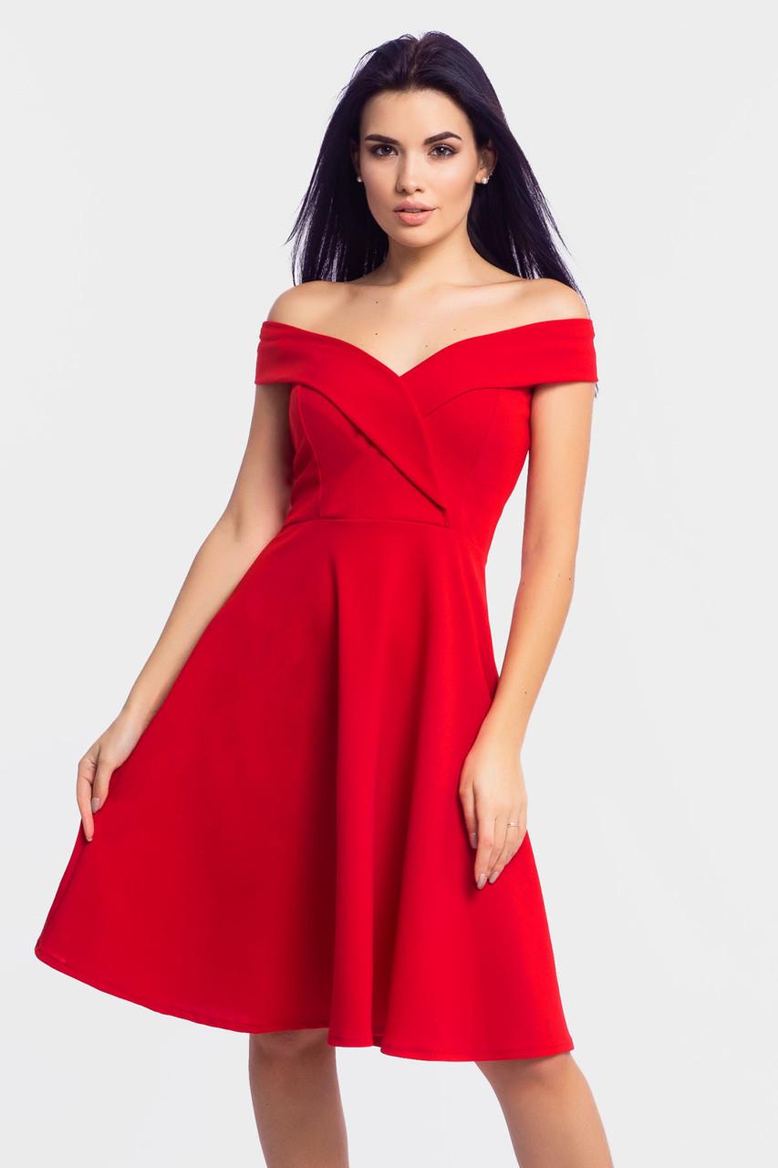 S, M, L | Коктейльне жіноче платя Nadin, червоний