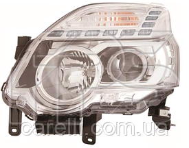 Фара левая электро галаген H11+H1 для Nissan X-TRAIL/ROGUE 2010-14