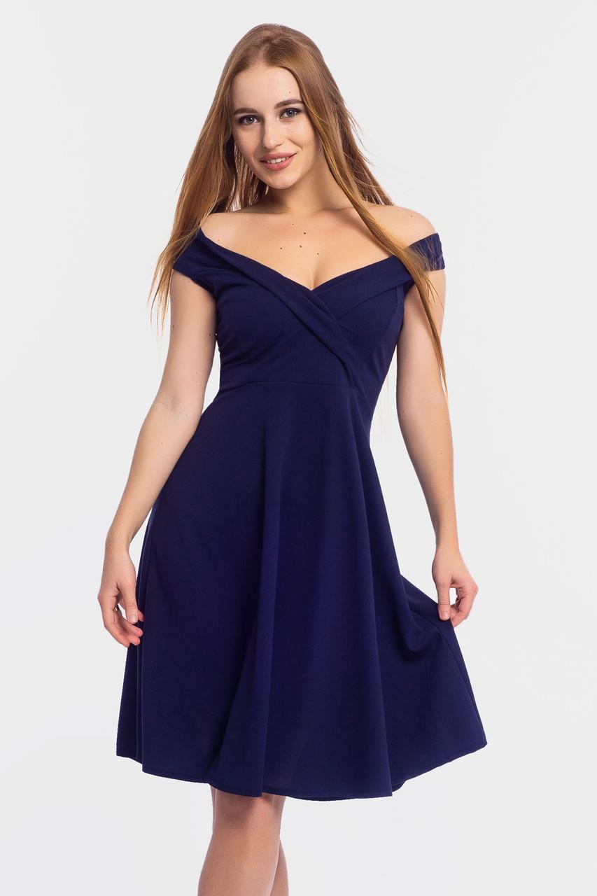 S, M, L | Коктейльне жіноче платя Nadin, темно-синій