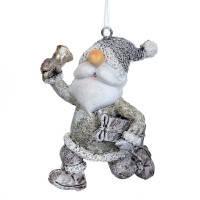 """Подвеска """"Дед Мороз с подарком"""" (2007-014)"""