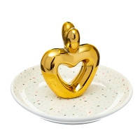 """Блюдце для украшенний """"Золотое сердце"""" (015NG)"""
