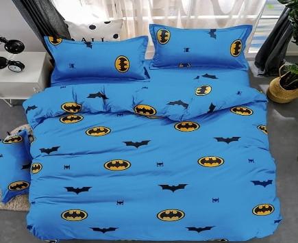 Комплект постельного белья подростковый  полуторный Бетмен на синем