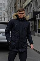 Зимняя мужская парка HotWint Intruder черная