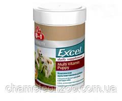 Витамины 8in1 Vitality Excel Puppy Multi Vitamin 100 т  - Витаминный комплекс для щенков и молодых собак