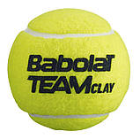 Новые мячи BABOLAT Team Clay для большого тенниса 4 мяча в банке, фото 2