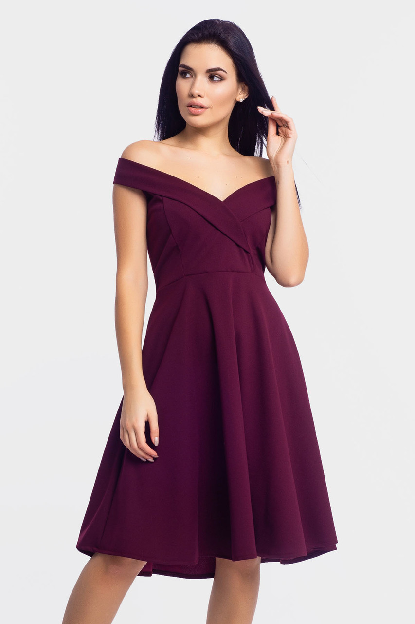 Нарядное вечернее платье Nadin, марсала