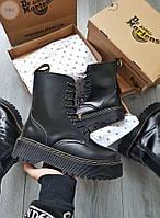 Женские зимние высокие ботинки Dr. Martens Jadon (черные) 558GL