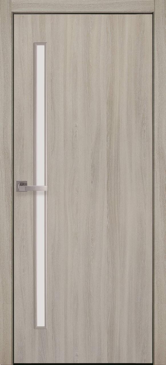 """Дверь межкомнатная """"Новый Стиль"""" модель Экошпон Глория, ясень патина (со стеклом)"""