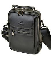 Чоловіча сумка шкіряна BRETTON BE 2003-4 black, фото 1