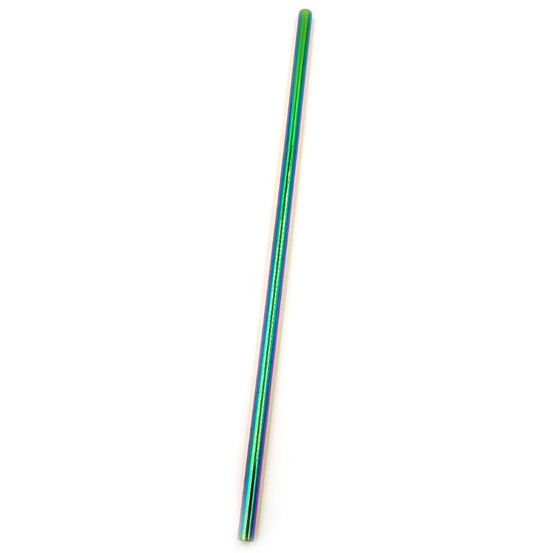 Металлическая трубочка Прямая Радужная