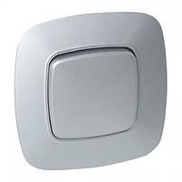 Выключатель 1-клавишный серебро ELA