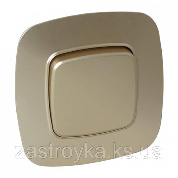 Вимикач 1-клавішний золото ELA