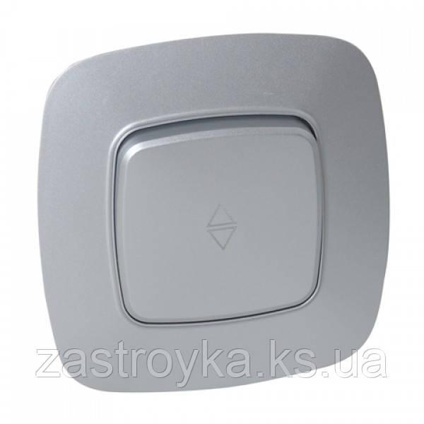 Вимикач прохідний 1-клавішний срібло ELA