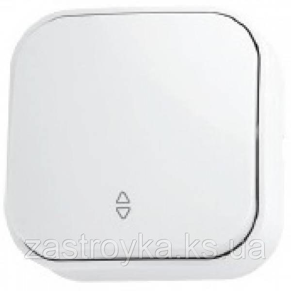 Вимикач прохідний 1-клавішний білий EVA