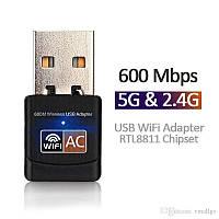 USB Wi-Fi адаптер 5 Ггц и 2.4 Ггц для компьютера и телевизора