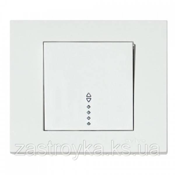 Выключатель 1-клавишный проходной с подсветкой белый GRANO