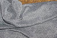 Ткань трикотажная жаккард зимняя , теплая,стрейч, цвет св.серый, пог. м. № 195, фото 1
