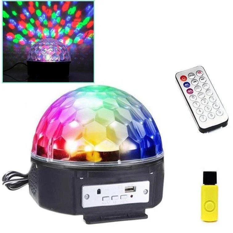 Диско-шар лазерный Music Ball с пультом mp3 Bluetooth флешкой, светомузыка