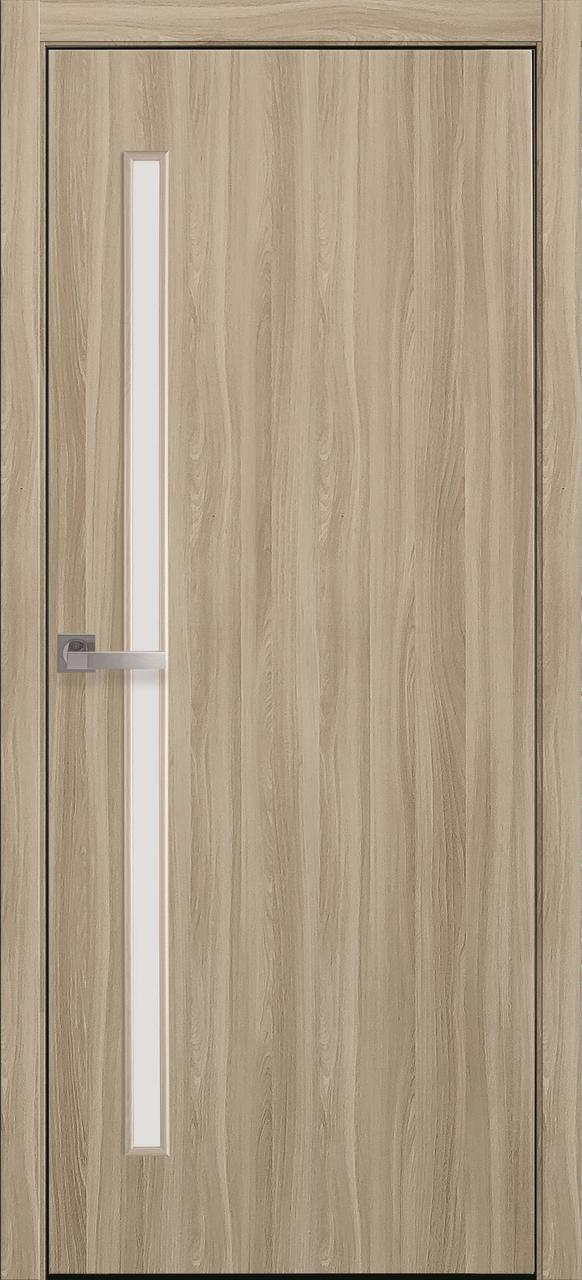 """Дверь межкомнатная """"Новый Стиль"""" модель Экошпон Глория, сандал (со стеклом)"""