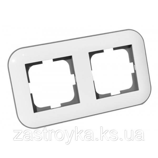 Рамка 2-а LOFT білий+сірий