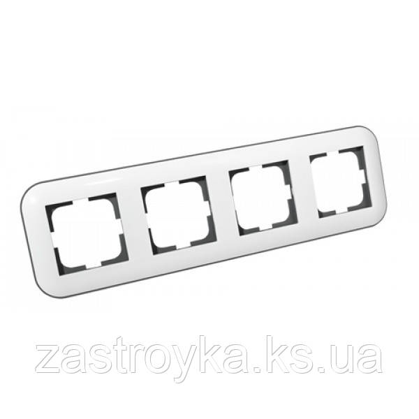 Рамка 4-а LOFT білий+сірий