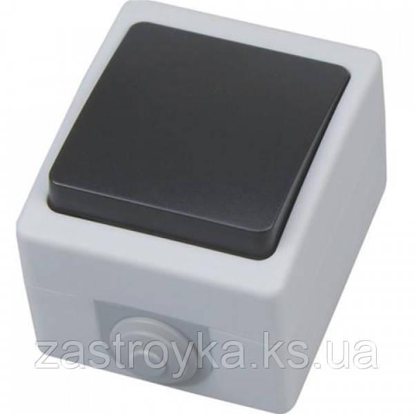 Одноклавішний вимикач накладної ATOM