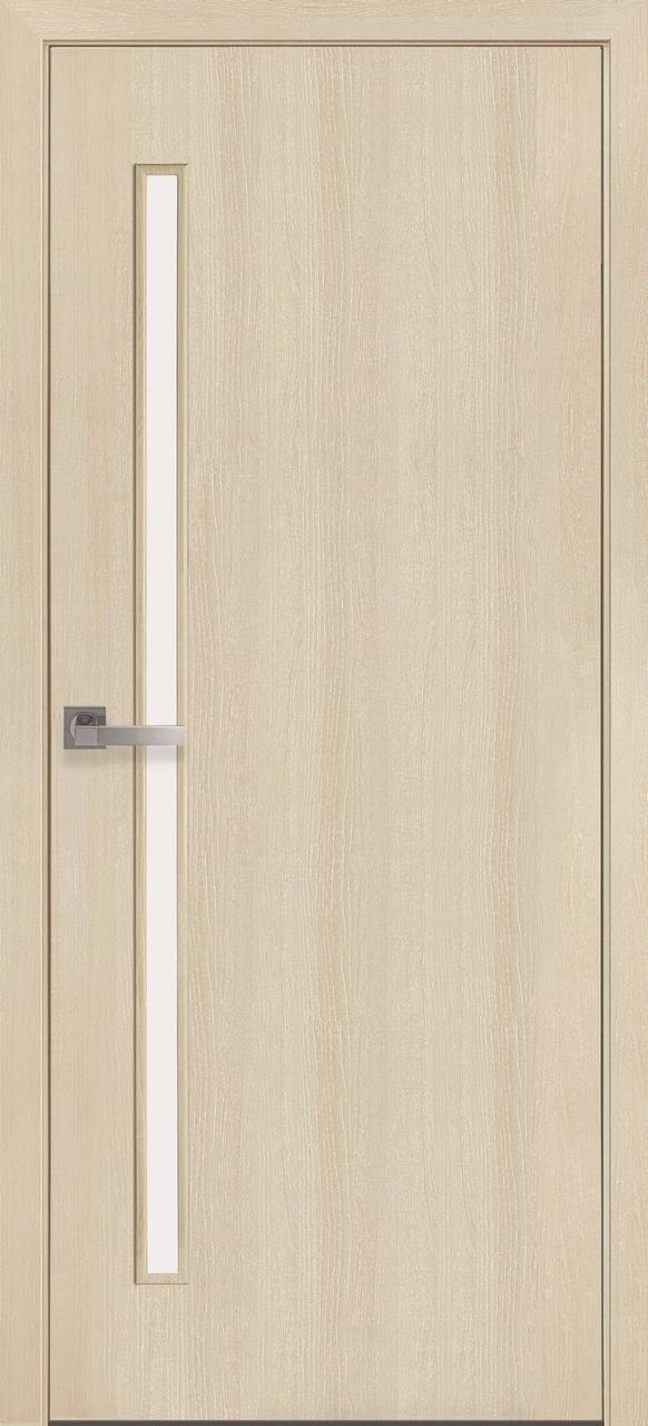 """Дверь межкомнатная """"Новый Стиль"""" модель Экошпон Глория, дуб жемчужный (со стеклом)"""