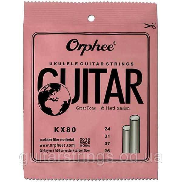 Cтруны для укулеле Orphee KX80 Nylon Hard Tension Concert or Soprano Ukulele