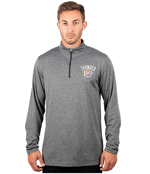 Спортивная кофта Ultra Game NBA Men's Quarter-Zip Pullover Active Shirt - Heather Charcoal18 (XX-Large)