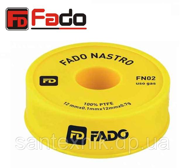 Фум лента ФАДО 12ммх0,1х12мх0,7г-узкая /FN02 для газа