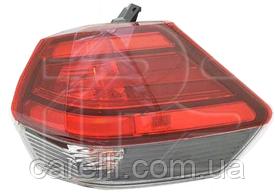 Фонарь задний правый внешний W21W+WY21W+LED для Nissan X-TRAIL/ROGUE 2017-