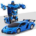 Машинка Трансформер Lamborghini Robot Car Size 18 - Синяя, фото 2