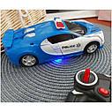 Машинка трансформер Lamborghini POLICE Robot Car Size 18 - Синяя, фото 2