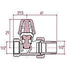 """Кран радиаторный Icma 1/2"""" прямой без ручки №815, фото 2"""