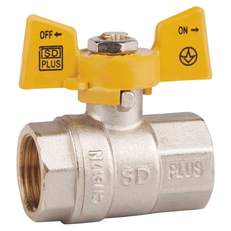 "Кран шаровой SD Plus 1"" ВР для газа (бабочка)"