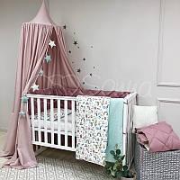 Комплект детского постельного белья в стандартную кроватку Baby Mix Единорог цветной
