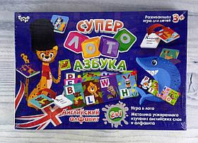 Детское Супер-лото Азбука СЛА-01RE Danko-Toys Украина