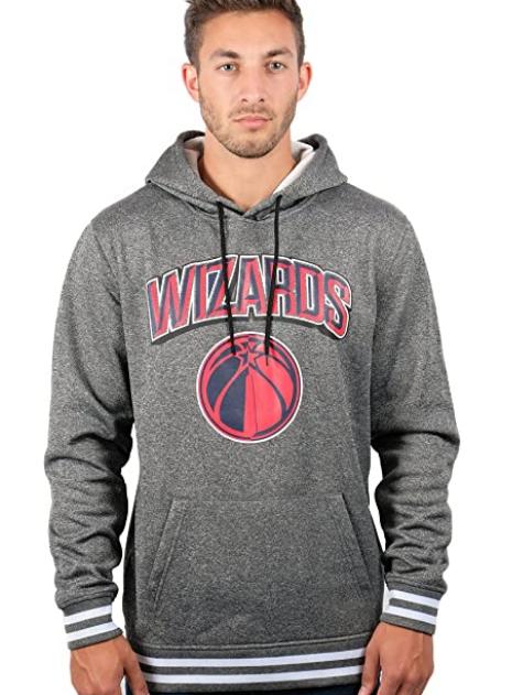 Спортивная худи Ultra Game NBA Washington Wizards Mens Focused Pullover Fleece  - Charcoal  (XXL)