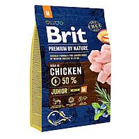 Корм Brit Premium Junior Medium, 3 кг